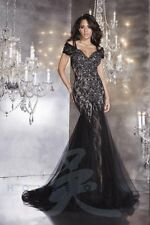 Panoply 44281 Black Trumpet Tulle Pageant Gown Dress sz 4
