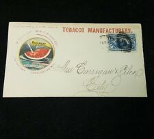Follin Brothers tobaco manufactures advertising cover, 1892 Columbian stamp