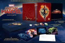 Coffret Captain Marvel Steelbook 3D 2D Édition Collector Exclusive Zavvi Neuf