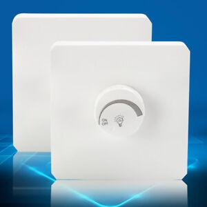 LED-Dimmer Schalter Aufputz Weiß Für Dimmbare LED Lampe 1bis400W Drehdimmer neu