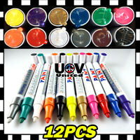 12x Waterproof Permanent Paint Marker Pen Oil Based Tyre Tire Tread Rubber Metal