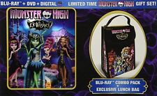 MONSTER HIGH 13 WISHES New Sealed Blu-ray + DVD + Exclusive Lunch Bag