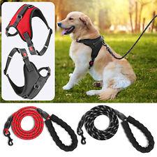 New listing Pet Dog Harness Adjustable Reflective Soft Padded Dog Vest/5Ft Strong Dog Leash
