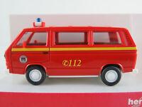 """Herpa 046213 VW T3 Bus """"FW Hamburg / ABC-Erkundungskraftwagen""""  1:87/H0 NEU/OVP"""