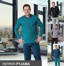 2er Pack Herren Pyjama Schlafanzug lang Nachtwäsche Doppelpack M L XL XXL*141752