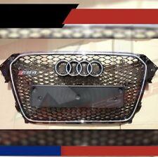 CALANDRE GRIS ARGENT ET NOIR BRILLANT LOOK RS4 POUR AUDI A4 B8 PHASE 2 > 11/2011
