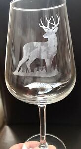 Personalised Wine Glass - Stag   *** SEE ITEM DESCRIPTION ***