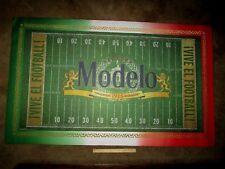 NEW Modelo Vive El Football Indoor Outdoor Beer Man Cave Carpet Bar Mexico sign