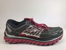 Brooks Glycerin 14 Womens Running Athletic Shoes Size 7.5 D Wide Gray Pink