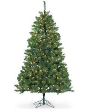 Sterling 7' Dakota Pine Christmas Tree with Clear Lights NEW Open Box