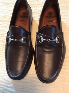 """Allen Edmonds """"VERONA II"""" Italian Loafers Brown 10 EE"""