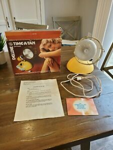 VINTAGE GE Deluxe Time A Tan Suntanner EUC Tested & Works!! Sun Lamp