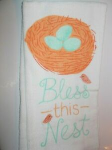 FULL UNCUT EASTER BLESS THIS NEST Print Cotton Kitchen Towel