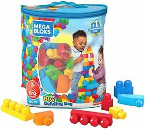 Mega Bloks First Builders Big Building Blocks Toys Bag 80pcs Toddlers Kids