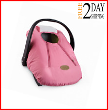 Cozy Car Seat Pink Baby Quilt Warm Soft Cover Infant Carrier Winter Gift