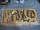Vintage Antique Chinese Hand Carved 3D Wood Panel