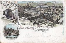 AK Elektricitäts und Kunstgewerbe Ausstellung in Stuttgart um 1896
