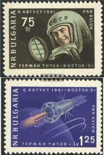 Bulgarien 1279-1280 (kompl.Ausg.) postfrisch 1961 Start sowj. RaumschiffWostok 2
