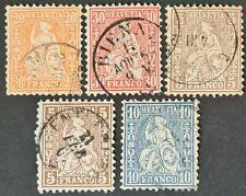 STAMPS SWITZERLAND 1862 USED - #2763