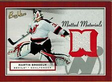 MARTIN BRODEUR 2005-06 BEEHIVE MATTED MATERIALS GAME USED JERSEY