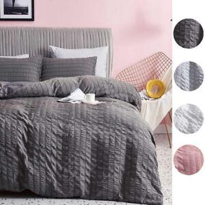 Duvet Cover Set White Non Iron Bedding 100% Egyptian Cotton Double Super King