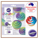WILTON TRI COLOUR SWIRL ICING COUPLER TRIPLE DECORATING KIT SET PARTY CUPCAKE