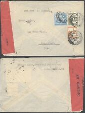 Palestine WWII 1941 - Cover to USA - Censor 10000/89