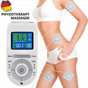TENS EMS Gerät Elektroden Reizstromgerät Schmerzen 12 in1 Muskelstimulator