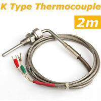 K Type Thermocouple Exhaust Probe High Temperature Sensors Threads 2M EGT US