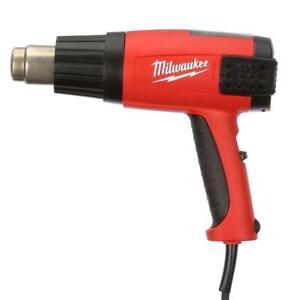 Milwaukee Corded Heat Gun Variable Speed Temperature Adjustments LED Digital