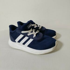 Adidas Lite Racer Sneakers 9 Blue Stripe Toddler Shoes