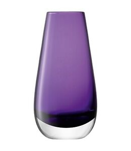 LSA International Hand-Blown Violet Purple Glass Bud Vase 14cm