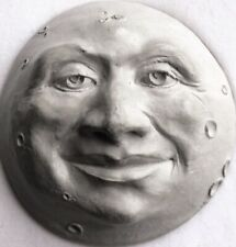 Handmade Folk Art Man in the Moon, an Original Wall Sculpture by Claybraven