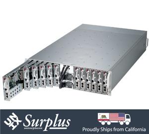 Supermicro 12 NODE MicroCloud Server 5037MC-H12TRF 12x X9SCE-F E3-1240 v2 NO RAM