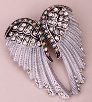 Angel wing brooch pin pendant women biker jewelry gifts her mom BD03 silver gold