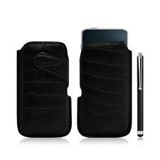 Housse coque étui pochette style croco pour Apple Ipod Touch 1G/2G/3G + Stylet