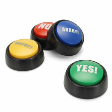 Yes, No, Maybe and Sorry Talking Buttons - Novelty Gag Gifts for Home / Office