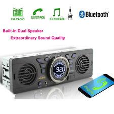 Stereo Car Radio FM 1 Din Speaker 12V In-Dash TF MP3 Player USB AUX SD Bluetooth