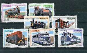 Nicaragua Mi.-Nr. 2231-2237 postfrisch Eisenbahn Motiv - b7352