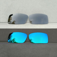 2 Pairs Black&Ice Blue Replacement Lenses for-Oakley Gascan Sunglasses Polarized