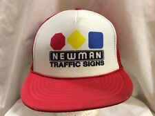 trucker hat baseball cap NEWMAN TRAFFIC SIGNS retro vintage cool rare rave nice