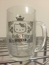 "Hello Kitty ""Only In Japan"" Sanrio Vintage Glass Cup Rare From Japan Year 2000"