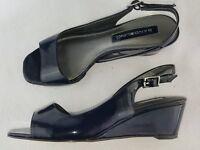 """Bandolino """"Jackee"""" Women's Wedge Sandals, Dark Blue Size 6"""