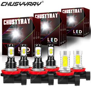 For Nissan Altima 2007-2017 6Pc 6000K Combo LED Headlight Hi/Lo+Fog Light Bulbs