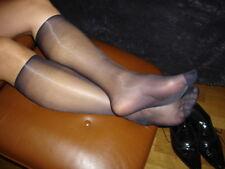 Lot 2 P men's socks sheer bleu Ref US06 T-39/46 Chaussettes nylon 15D sexy