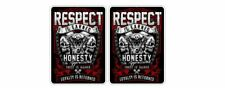 Oldschool Biker Harley V2 Chopper Sticker Decal 1% MC Outlaw Hells Angels Hotrod