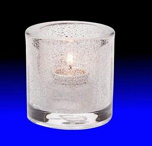 Tealight Candle Holder Clear Jewel, Hollowick 5140CJ Clear, for HD-8 Liquid Wax