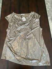 Calvin Klein 2X Top NWT Metallic Assymetrical