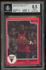 1986 Star #1 Michael Jordan  BGS 8.5 NM-MINT+. Chicago Bulls. Checklist