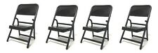 """FC-B x 4: 1/12 scale Black Folding Chair for 6"""" ~ 7"""" Action Figures (4 Pack)"""